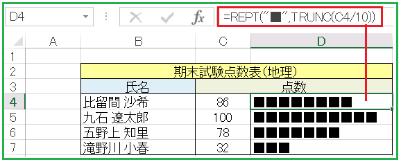 REPT関数点数表
