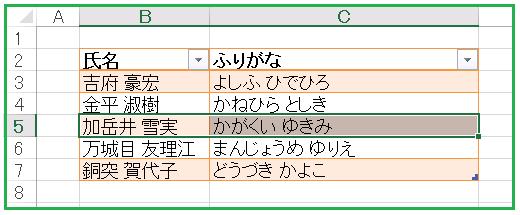 リストオブジェクト行の選択(吉府豪宏)