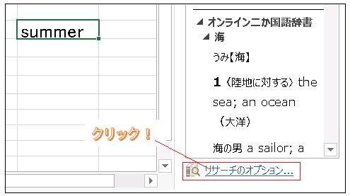 Excel翻訳ツール リサーチのオプション