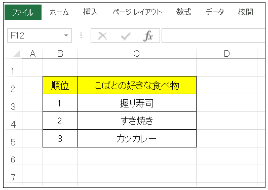 Excel CSVファイルの作成方法01《順位表》